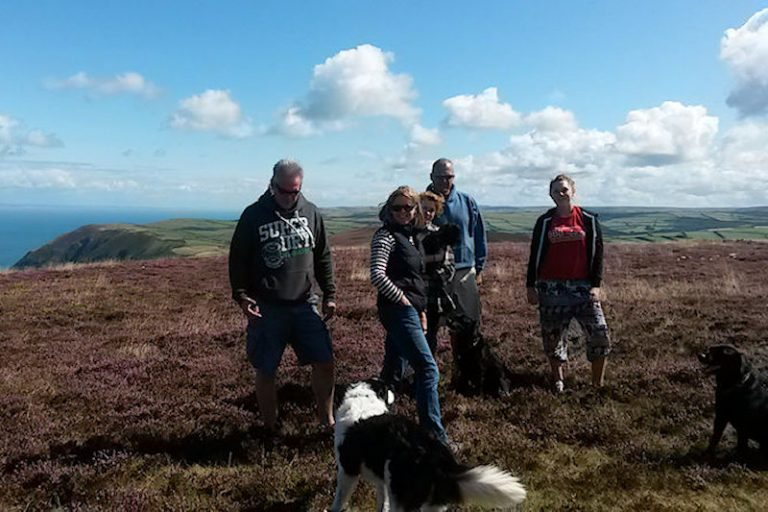 Dog walking in Exmoor National Park