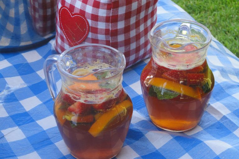 A Pimms party on the lawn
