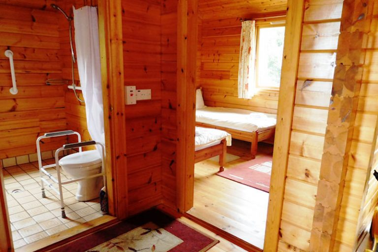 Pinetree wetroom wheelchair access