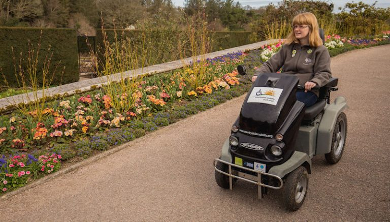 Tramper hire at RHS Rosemoor