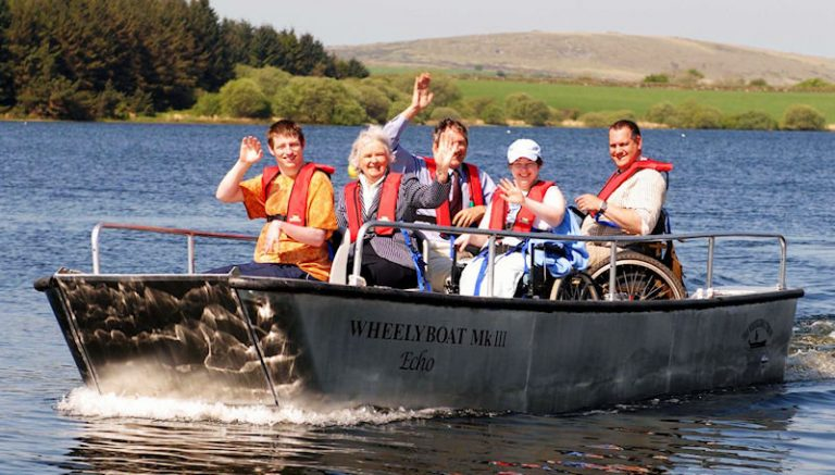 Wheelchair accessible wheelyboats