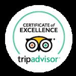Winner of Trip Adviser Certificate of Excellent